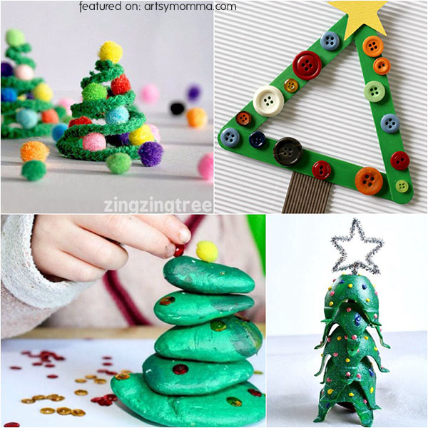Super Cute Christmas Tree Ideas for Kids to Make