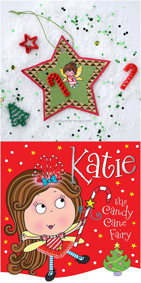 Katie the Candy Cane Fairy Ornament inspired by the book