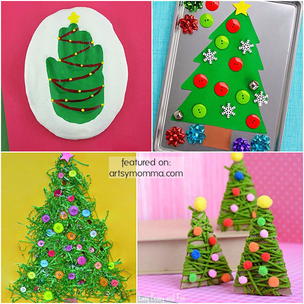 Kid-made Christmas Tree Projects