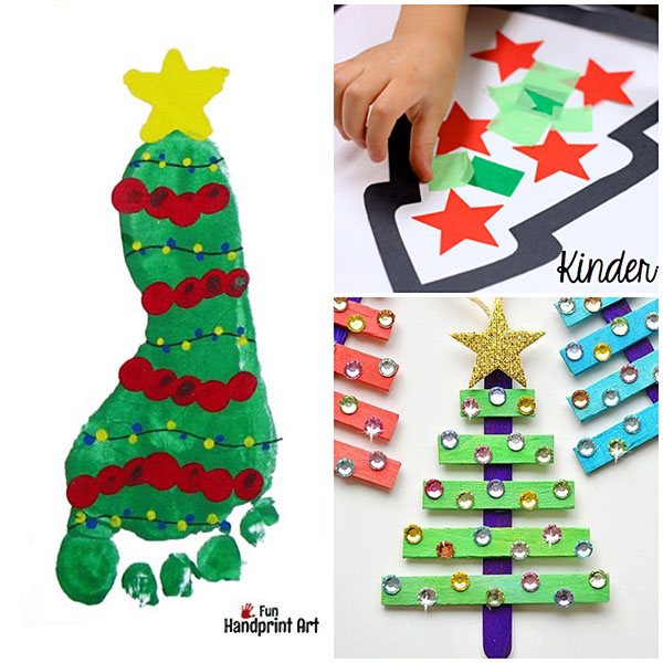 25+ Christmas Tree Crafts for Kids to Make