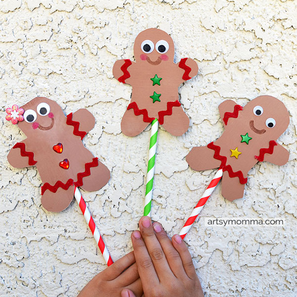The Gingerbread Man Puppet Crafts for Kids