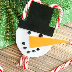 Snowman Ornament and Candy Cane Holder Craft
