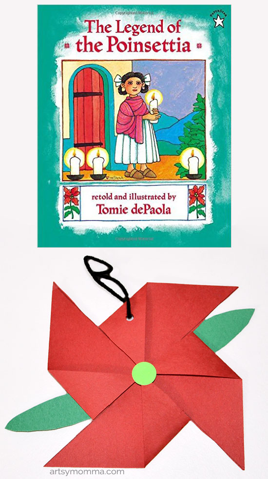 photo about The Legend of the Poinsettia Printable Story named The Legend of the Poinsettia Ornament Craft - Artsy Momma
