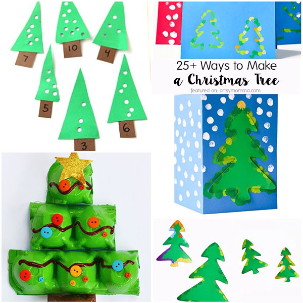 Craft Ideas for Making Christmas Trees with Kids