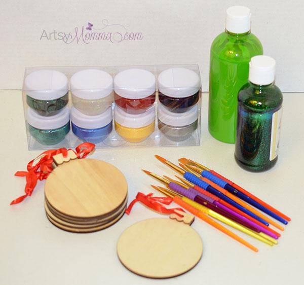 Wood Christmas Ornament Craft Kit for Kids