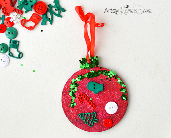 Kids Christmas Ornament Decorating Idea