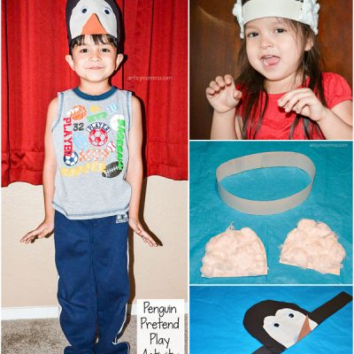 Penguin and Polar Bear Headband Craft