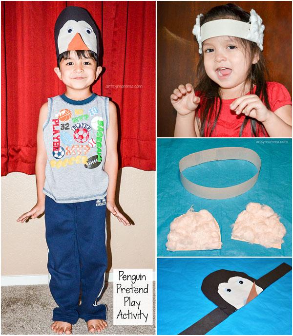 Penguin and Polar Bear Headband Craft