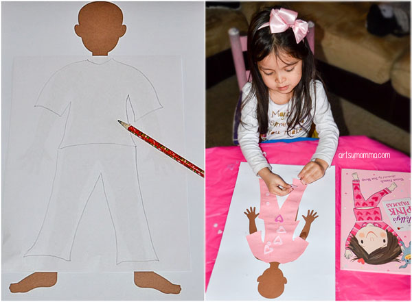 Pink Pajamas Craft for a Color Pink Preschool Theme