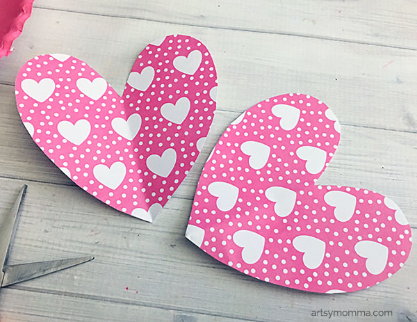 Heart-Shaped Wings for Valentine's Day Owl Craft