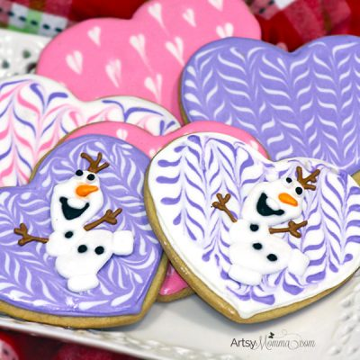 DIY Olaf Valentine's Day Cookies
