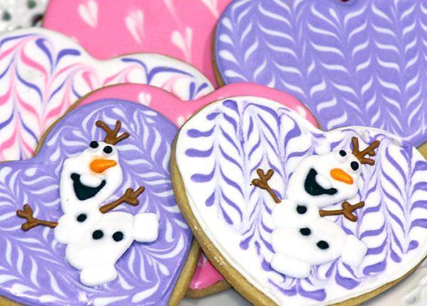 DIY Olaf Valentine's Day Cookies