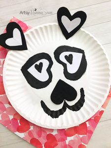 Heart-shaped Panda Craft for Valentine's Day