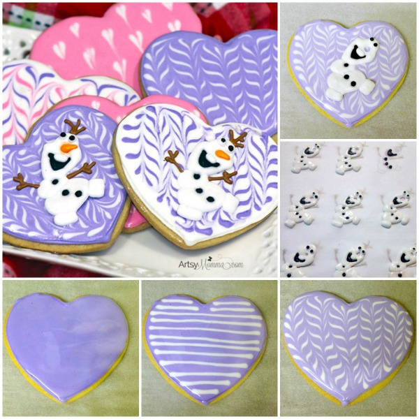 Heart-Shaped Olaf Cookie Tutorial