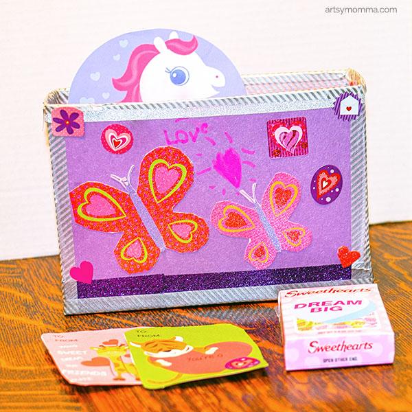 Recycled Box Valentine Holder Craft for Kids  Artsy Momma