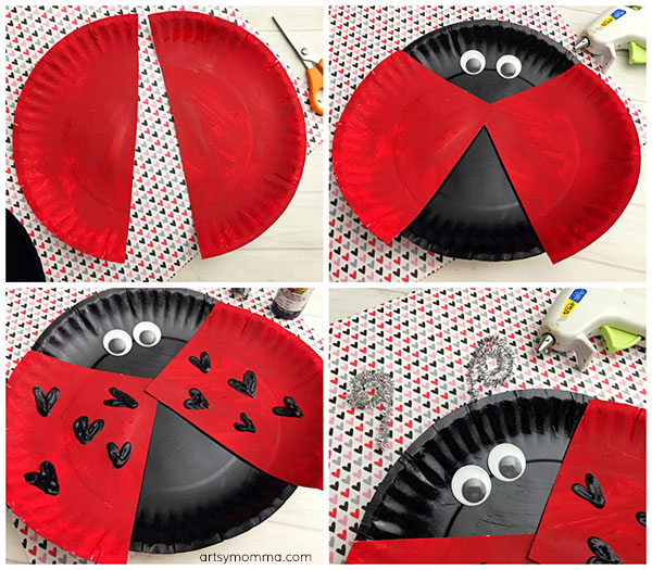 LHow to make a Lovable Paper Plate Ladybug Craft for Valentine's Day with Kids