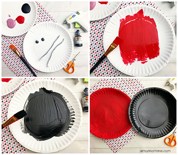 Valentine's Day Paper Plate Love Bug Craft Tutorial