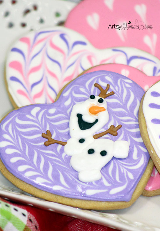 Valentine's Day Olaf Cookie Recipe Tutorial