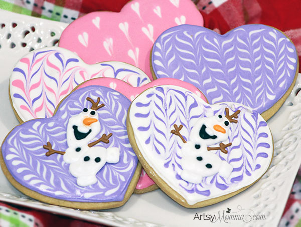 Heart-shaped Olaf Valentine's Day Cookie Tutorial