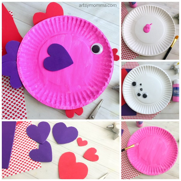 Paper Plate Valentineu0027s Day Fish Craft for Kids - adorable!  sc 1 st  Artsy Momma & Paper Plate Valentineu0027s Day Fish with Heart Shapes - Artsy Momma
