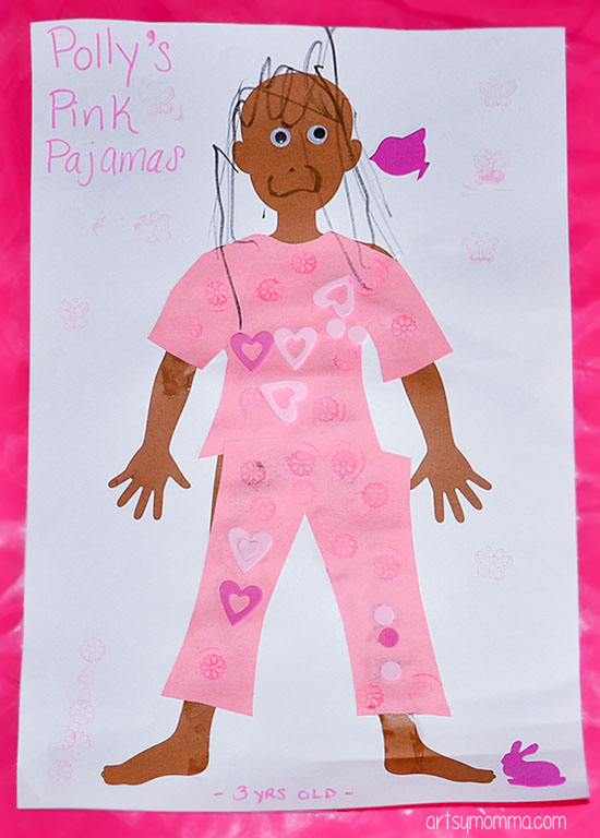 Polly's Pink Pajamas Book Extension - Color Pink Crafts