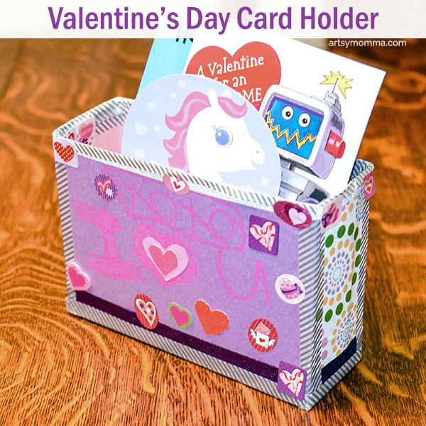 Recycled Box Valentine Holder Craft for Kids Artsy Momma – Box Valentine Cards