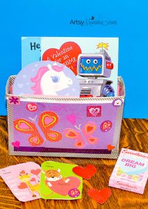 Simple Recycled Box Valentine Holder Craft