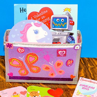 Recycled Box Valentine Holder Craft for Kids