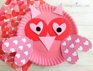 Super Sweet Paper Plate Valentine's Day Owl Craft