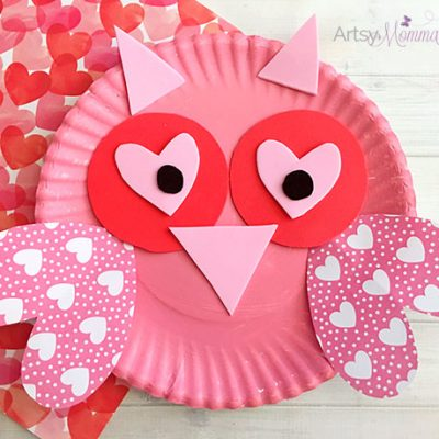 Charming Valentine\u0027s Day Owl Craft : paper plate art - pezcame.com