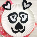 Use heart shapes to make a darling Valentine's Day Panda Craft with kids!