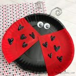 Lovable Paper Plate Ladybug for Valentine's Day