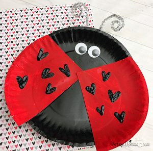Lovable Paper Plate Ladybug Craft for Valentine's Day