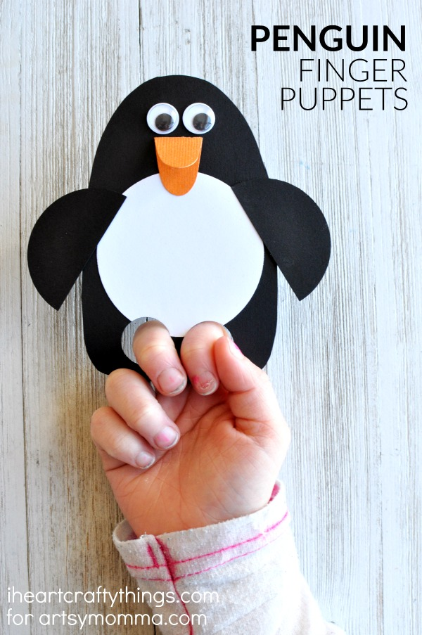 This DIY penguin puppet is simple to make and kids will love playing with their creation! It can be made in less than 15 minutes.