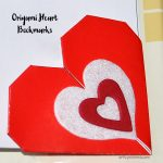 Valentine's Day Origami Heart Bookmarks