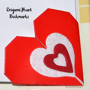 Heart-shaped Origami Bookmarks