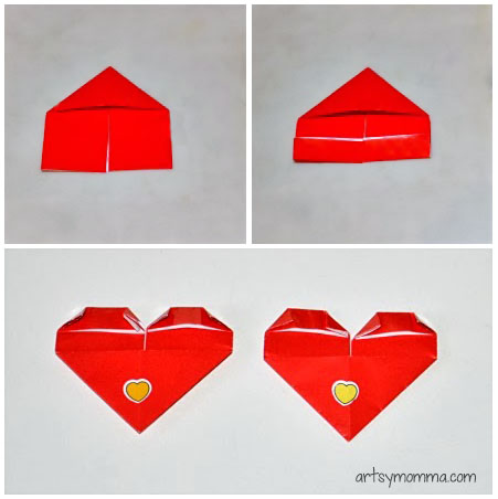 Heart-shaped Origami Corner Bookmarks Tutorial