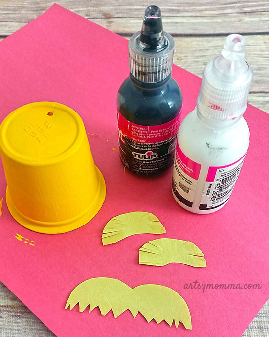 Recycle an empty coffee pod into a fun Lorax Craft