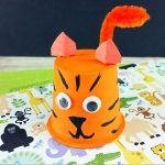 Recycled K Cup Tiger Craft Tutorial for Kids