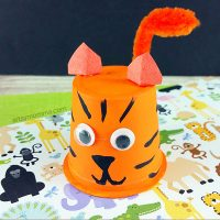 Craft and Play with Recycled K Cup Tiger!