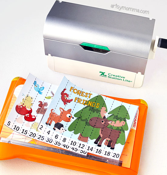 DIY Laminated Numbered Puzzles Featuring Forest Animals - Kindergarten Math Idea