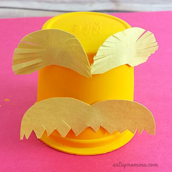 Recycled Lorax Craft Idea for Kids - Dr Seuss's Birthday