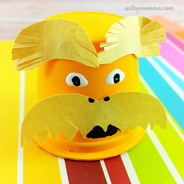 The Lorax Recycled Craft Idea for Read Across America month