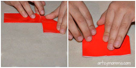 Origami Heart Bookmark Craft Tutorial
