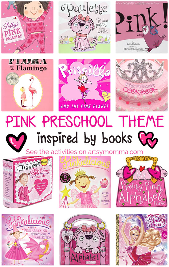 Pink Theme for Preschoolers: Books and Activities - Artsy Momma