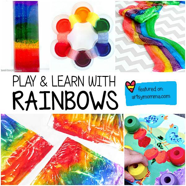 Play & Learn with Rainbow Sensory Activities