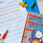 Bug Themed Preschool Prewriting Practice - Line Tracing Printable
