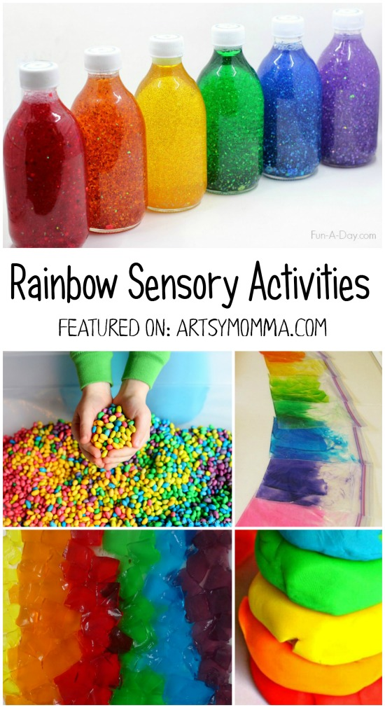Rainbow Sensory Play Activities - Fun for Spring & St Patrick's Day!