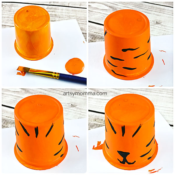 Recycled Cup Tiger Craft