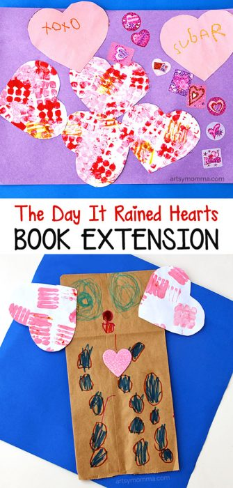 The Day It Rained Hearts Book Extension